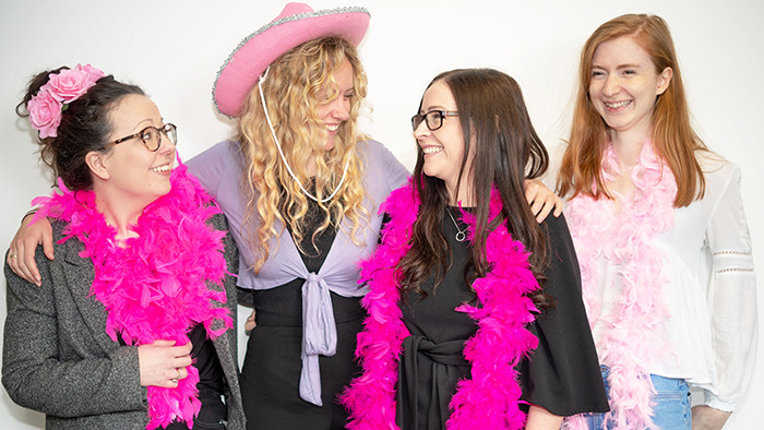 wear it pink team 2019. Lottie, Summer, Rosie and Abi