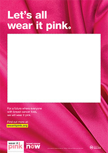 Blank fundraising poster - silk background